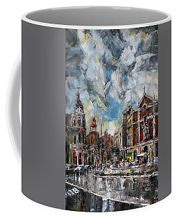 The City Touched By The Sunset Coffee Mug