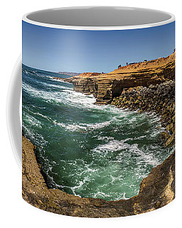 The Cliffs - Point Loma Coffee Mug by Peter Tellone