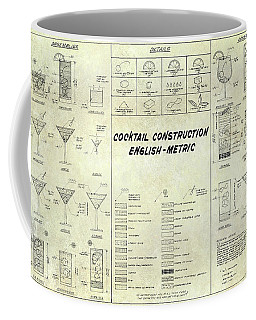 The Cocktail Construction Blueprint Coffee Mug