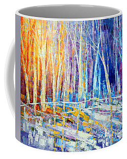 Coffee Mug featuring the painting The Color Of Snow by Tatiana Iliina