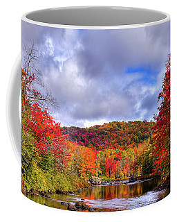 Coffee Mug featuring the photograph The Colors Of Fall On The Moose River by David Patterson