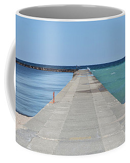 Coffee Mug featuring the photograph The Colors Of Lake Michigan by Fran Riley