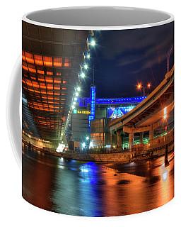 Coffee Mug featuring the photograph The Colors Under The Zakim - Leonard P Zakim Bridge - Boston by Joann Vitali