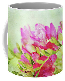 Coffee Mug featuring the photograph Colour Full Freesia by Connie Handscomb