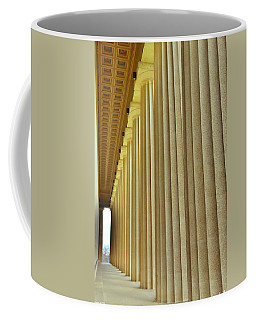 Coffee Mug featuring the photograph The Columns At The Parthenon In Nashville Tennessee by Lisa Wooten