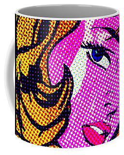 Batgirl Comic Girl Coffee Mug by Robert Margetts