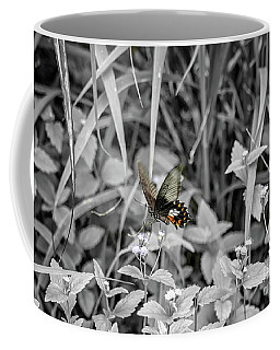 Coffee Mug featuring the photograph The Common Rose Black And White by Michelle Meenawong