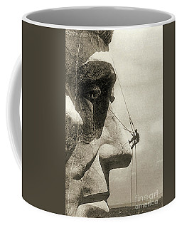 The Construction Of The Mount Rushmore National Memorial, Detail Of Abraham Lincoln,1928  Coffee Mug
