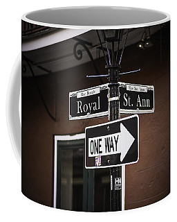 The Corner Of Royal And St. Ann, New Orleans, Louisiana Coffee Mug