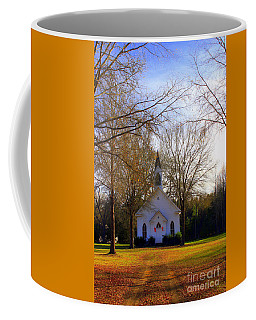 Coffee Mug featuring the photograph The Country Church by Kathy White