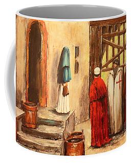 The Courtyard Conversation Coffee Mug
