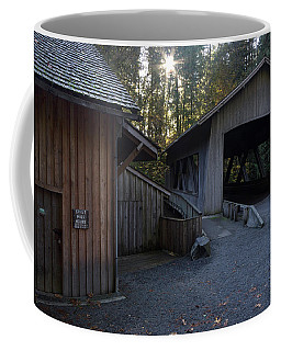 The Covered Bridge At Cedar Creeks Grist Mill Coffee Mug