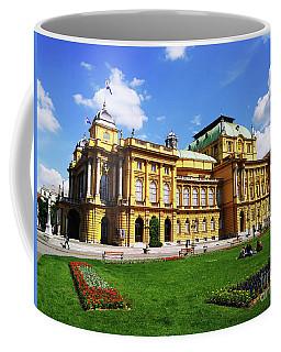 The Croatian National Theater In Zagreb, Croatia Coffee Mug by Jasna Dragun