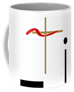 Coffee Mug featuring the mixed media The Cross by Jessica Eli
