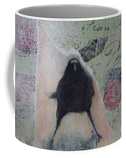 The Crow Called The Raven Black Coffee Mug by Kim Nelson