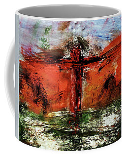 Coffee Mug featuring the mixed media The Crucifixion #1 by Michael Lucarelli