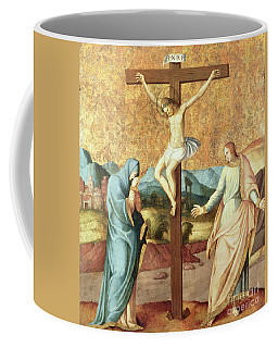 The Crucifixion With The Virgin And St John The Evangelist Coffee Mug