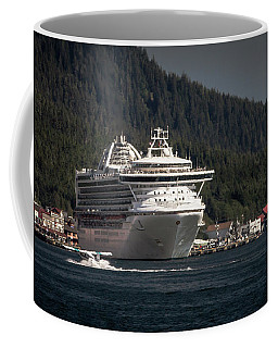 The Cruise Ship And The Plane Coffee Mug