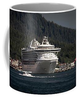 The Cruise Ship And The Plane Coffee Mug by Timothy Latta