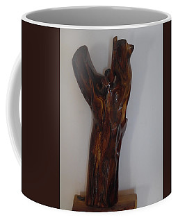 Coffee Mug featuring the sculpture The Cry Of Angels by Esther Newman-Cohen