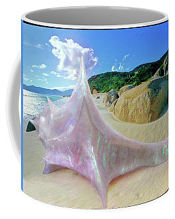 Coffee Mug featuring the sculpture The Crystalline Rainbow Shell Sculpture by Shawn Dall