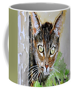 The Curious Tabby Cat Coffee Mug