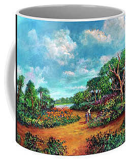 Coffee Mug featuring the painting The Cycle Of Life by Randol Burns