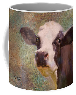 Coffee Mug featuring the mixed media The Dairy Queen by Colleen Taylor