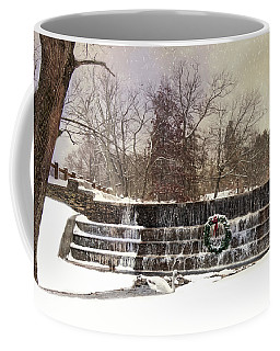 Coffee Mug featuring the photograph The Dam At Christmas by Robin-Lee Vieira