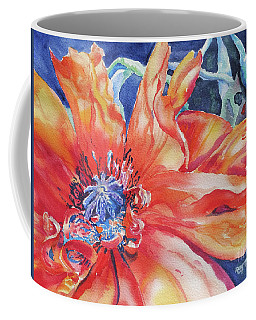 Coffee Mug featuring the painting The Dance by Mary Haley-Rocks