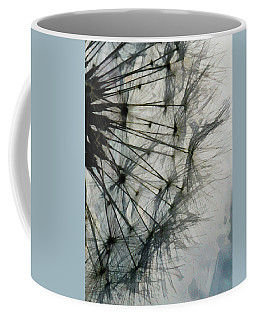 Coffee Mug featuring the digital art The Dandelion Silhouette by Steve Taylor