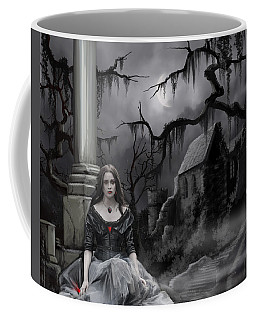 Coffee Mug featuring the painting The Dark Caster Awaits by James Christopher Hill