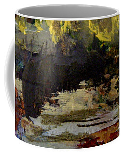 Coffee Mug featuring the painting The Dark Forest by Nancy Kane Chapman