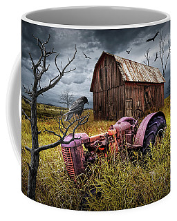 Coffee Mug featuring the photograph The Decline And Death Of The Small Farm by Randall Nyhof