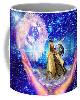 Coffee Mug featuring the digital art The Depth Of Gods Love by Dolores Develde