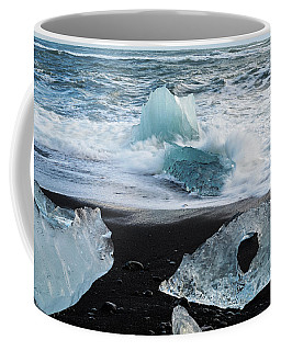 Coffee Mug featuring the photograph The Diamond Beach, Jokulsarlon, Iceland by Dubi Roman