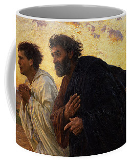 The Disciples Peter And John Running To The Sepulchre On The Morning Of The Resurrection Coffee Mug