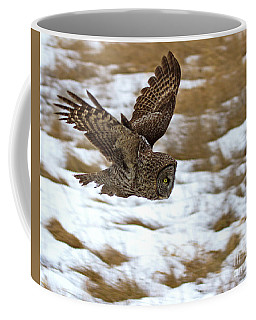 The Dive- Great Gray Owl Coffee Mug