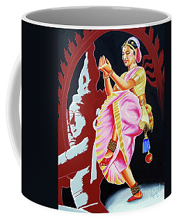 The Divine Dance Of Bharatanatyam Coffee Mug