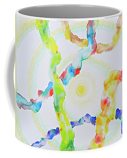 Coffee Mug featuring the mixed media The Divine Within by Michele Myers