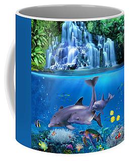 The Dolphin Family Coffee Mug by Glenn Holbrook