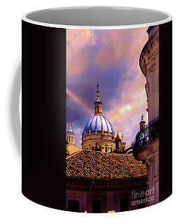 The Domes Of Immaculate Conception, Cuenca, Ecuador Coffee Mug by Al Bourassa