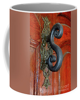 Coffee Mug featuring the photograph The Door Knocker by Michelle Meenawong