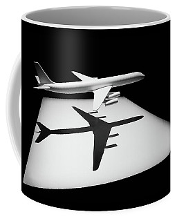 Coffee Mug featuring the digital art The Douglas Dc-8 by Steve Taylor