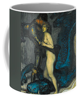 Coffee Mug featuring the painting The Dragon Slayer by Franz von Stuck