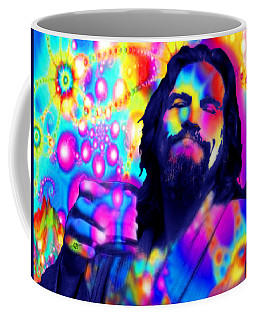 The Dude The Big Lebowski Jeff Bridges Coffee Mug by Tony Rubino