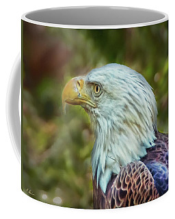 Coffee Mug featuring the photograph The Eagle Look by Hanny Heim