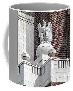 Coffee Mug featuring the photograph The Eagle On The United States Custom House Philadelphia Pennsyl by Bill Cannon