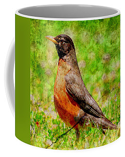 Coffee Mug featuring the photograph The Early Bird . Texture . Square by Wingsdomain Art and Photography