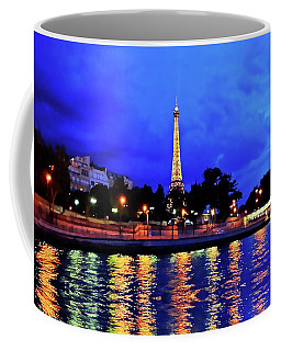 The Eiffel Tower Aglow Coffee Mug